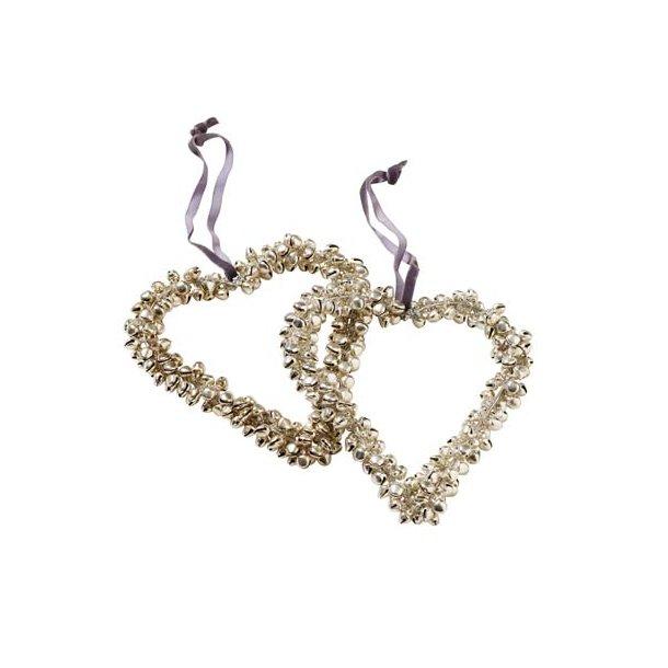 Hjerte med små klokker ca. 12 cm